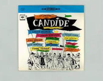 Candide, Operetta Based on Voltaire's Satire, Leonard Bernstein, Lilillian Hellman, Dorothy Parker Vintage Vinyl Record Album Columbia LP