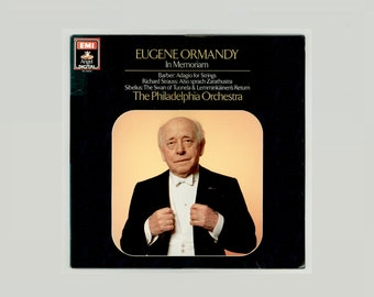 Eugene Ormandy In Memoriam, The Philadelphia Orchestra, Barber, Richard Strauss, Sibelius Angel Digital LP Unplayed Vinyl Classical Record