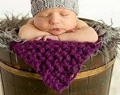 KNITTING PATTERN || Brennan Beanie || baby striped beanie hat knitting pattern pdf