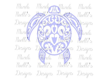 Floral Turtle Silhouette or SVG Instant Download