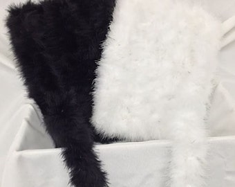 Black or White Marabou Boa by the yard
