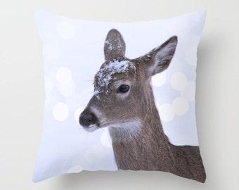 Deer Pillow Cover, Nature Home Decor, Wildlife Pillow Case , Animal Pillow Cover, Doe Pillow Case