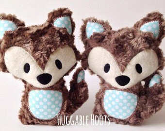 Fox Stuffed Animal - Kawaii Fox - Fox Plush - Woodland Fox - Personalized Stuffed Fox - Stuffed Animal Fox  - Woodland Fox Nursery - Fox Toy