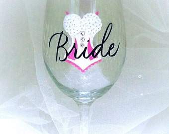 Bride Wine Glass, Cute Sequins Gift