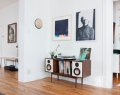 Handcrafted Walnut Mid Century- Hifi Console // Sideboard - BLUETOOTH - Stereo Cabinet - Do Not Purchase - Special Pre-Order Price 1695