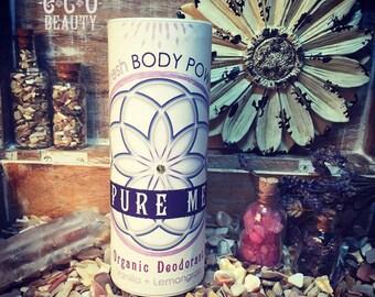 Organic Flower Essence Body Powder / Deodorant Powder, Pure Natural, Underarm Powder, Soothing Full Body Powder / Yoga Powder / Vegan