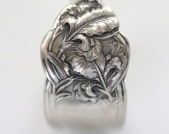 RARE Antique Sterling Silver Ring - Fleur De Lis, 1907