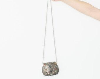 Vintage Metal and Stone Purse , Party Bag, BOHO Purse