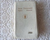 Gideons New Testament - Nurses Edition, White Leather, Vintage New Testament, White Leather, 50 to 75 Years Old