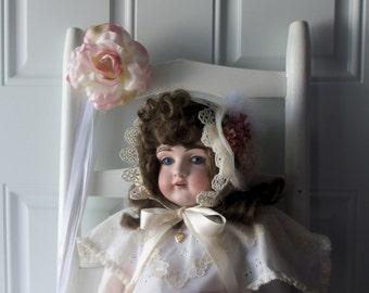 Baby Bonnet - Easter Bonnet, Sun Bonnet, Summer Fashion, Family Reunion, Downton Abbey, OOAK, Handmade Bonnet, Baby Photo, Gift Idea