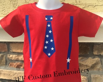 CHILD Tie and Suspenders Tee