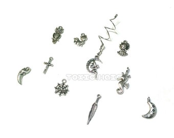 Spiral dread bead you pick the charm, dreadlock beads