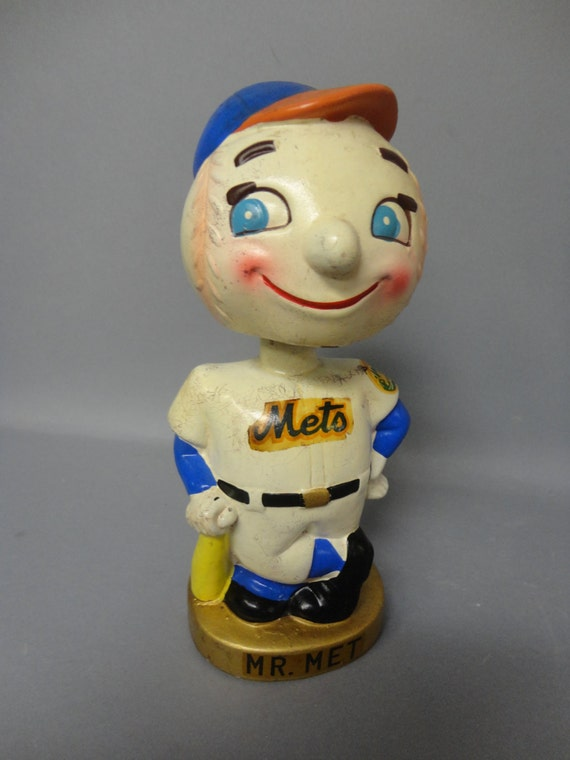 1960s New York Mets Mr Met Nodder Bobblehead Bank Made