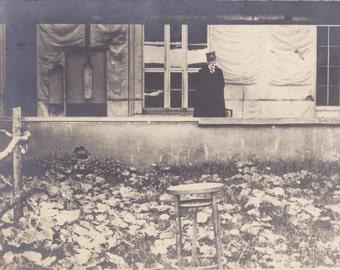 Tir National- 1910s Antique Photograph- Shooting Range- WWI Prisoner Execution- Death Sentence- Real Photo Postcard- RPPC- Paper Ephemera