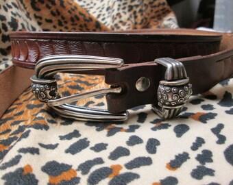 Leather belt , Men's brown belt , Women's belt , custom leather belt , Ladies belts , Medieval belt , jeans belt