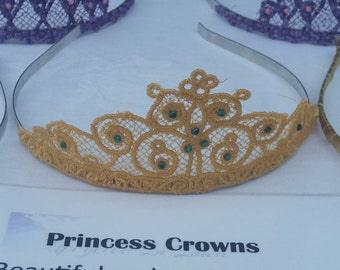 Embroidered Princess Crown
