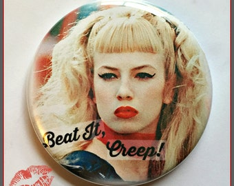 "Cry Baby Version 2  - Large 2.25"" Button, OR Key Ring Bottle Opener"