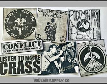 Anarchist Crass Punk Stickers