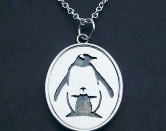 Penguin & Chic Silver Pendant
