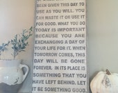 This is the beginning of a new day,  let it be something good, 24x48 framed sign