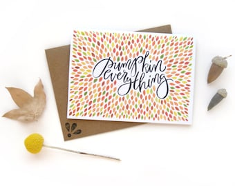 Pumpkin Everything | Watercolor Illustrated Fall Card