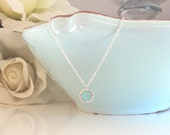 Silver Necklace, Mint Necklace, Bridesmaid Necklace, Light Blue Wedding, Gifts for her, best friend gifts, girlfriend gifts, christmas gifts