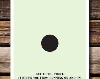 Grammar English Humor Wall Decor, Respect Punctuation: Period