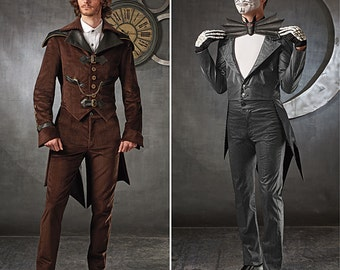 Simplicity Pattern S0675/1039 Men's Steampunk Suit and Jack Skellington Costumes Sizes 38-44 NEW