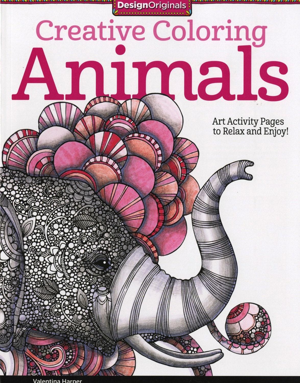 Animals Creative Coloring Colouring Book : Valentina Harper