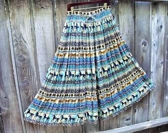 Bohemian Maxi Skirt.