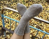 Wool Socks EU size 35-37 - Hand Knitted - 100% Natural Wool - Warm Winter Eco Clothing - Cozy Christmas Gift