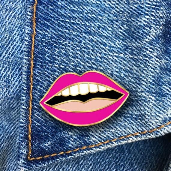 Lips Enamel Pin Hard Enamel Pin Jewelry Art Gift PIN30
