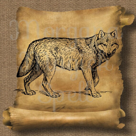 Vintage Wolf Royalty Free Clipart