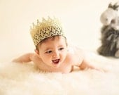 Ready to Ship|| The Kingston|| unisex FULL SIZE gold lace crown || photography prop|| Child-Adult || custom sizes