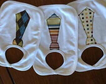 Set of 3 Boy Tie Bibs