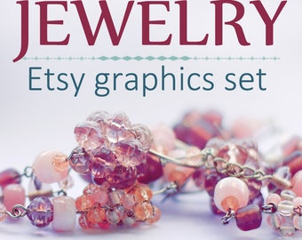 Etsy Banner, Etsy shop banner, Beaded jewelry, Premade shop template, Jewelry banners, Cover banner