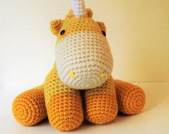 Cuddly Golden Unicorn (Finished Doll)