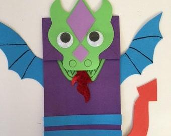 Dragon bag puppet