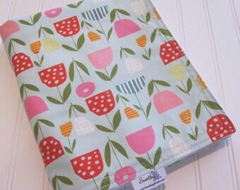 SWEET NATURALS Organic Line/Baby Blanket/Fresh Blooms (Organic)/Organic Cotton Fleece/Organic Thread