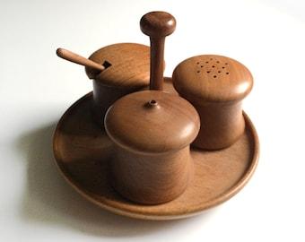 Vintage Wooden Salt & Pepper Set - Betula Birch