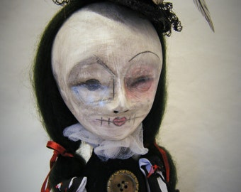 Miss Victoria Steampunk Hand Crafted Art Doll - Ooak - One Of A Kind