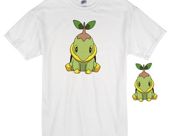 Turtwig Iron On Transfer,Turtwig Image, Pokemon Go, Pokemon Go Shirt,Pokemon T-Shirt,Pokemon Digital, Nintendo, Pokemon Tee, Turtwig Image