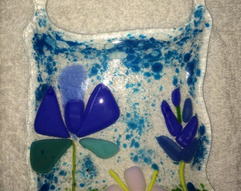 Fused Glass Wildflowers Suncatcher