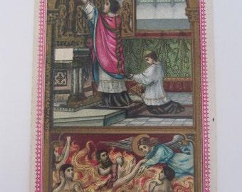 Flemish religious card, antique Belgian Holy card, 1900's Saints card Antwerpen Belgium, Communion cards, vintage prayer cards, Belgian card