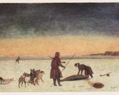 "I. Vylko ""Seal hunting"" Postcard -- 1978"