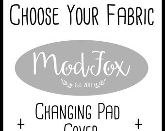 Custom Changing Pad Cover - Choose Your Fabric - Changing Pad Cover In Any Fabric - Changing Pad - Custom Cover - Crib Bedding