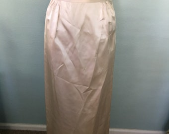 Off White Silk Full Length Evening Skirt