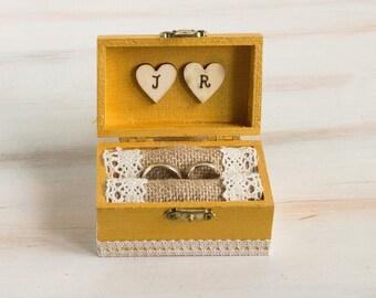 Rustic Ring Bearer Box Wedding Ring Box Gold I Do Ring Box Pillow Alternative Custom Ring Bearer Box Key Ring Box Ring Holder Еngagement box