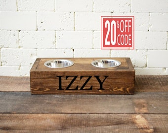 Elevated Cat Feeder Bowl - Cat Bowl - Elevated Bowl - Small Dog Bowl - Personalized Bowl - Pet Bowl - Pet Accessory - Pet Supply - Gift