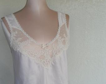 Vintage Camisole ivory Satin Cami Deena Size 32